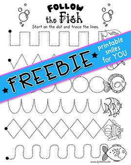 Follow the Fish - Printable Tracing Activity Freebie