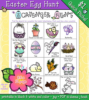 Easter Egg Hunt Printable Activity - FREE w/any purchase!