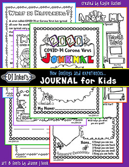 COVID-19 - Feelings and Experiences Journal for Kids