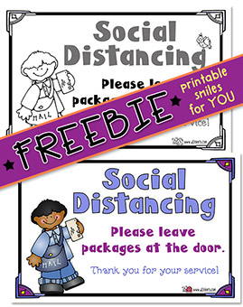 Social Distancing Sign - Printable Freebie