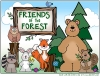 Friends of the Forest page made with Woodland Critters animal clip art -DJ Inkers