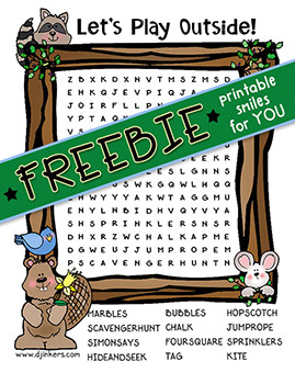 Woodland Word Search Printable Freebie