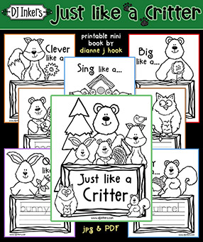 Just Like a Critter - Mini Handwriting Workbook