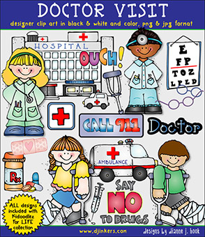 Doctor Visit Clip Art Download -NEW!