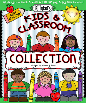 Kids and Classroom Clip Art Download Collection -NEW!