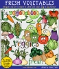 Vegetable clip art for kids, gardens, farms and a healthy body -DJ Inkers