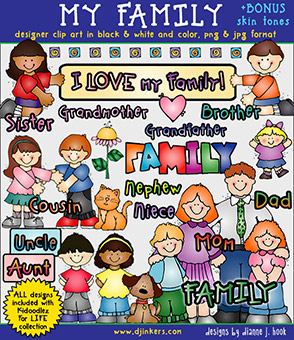 My Family Clip Art Download -NEW!