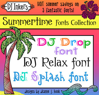 DJ Summertime Fonts Collection Download
