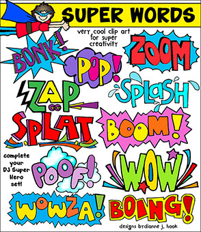Super Words Clip Art Download -NEW!