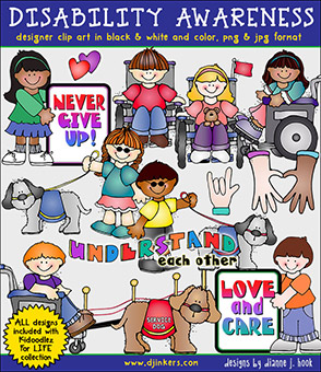 Disability Awareness Clip Art Download -NEW!