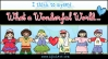 I think to myself, what a wonderful world! Created with DJ Inkers clip art kids around the world.