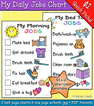 My Daily Jobs - Printable Chart or Checklist Download -NEW!