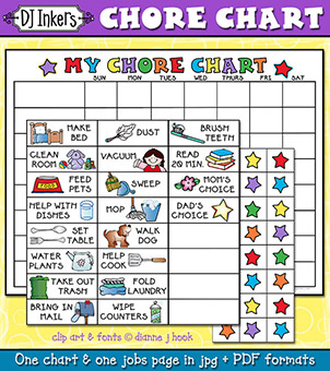 My Chore Chart Printable Download -NEW!