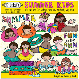 Summer Kids Clip Art Download