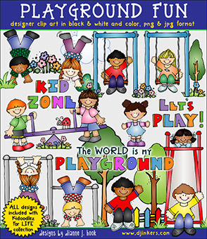 Playground Fun Clip Art Download -NEW!