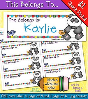 This Belongs To - Printable Label Download -NEW!