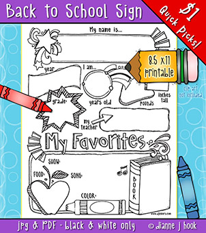 Back to School Sign Printable Download -NEW!