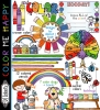 Cute clip art for learning and exploring a rainbow of colors by DJ Inkers