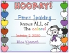 I know my colors printable certificate for kids made with DJ Inkers clip art