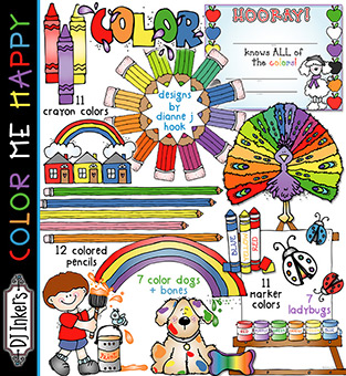 Color Me Happy Clip Art Download -NEW!