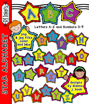 Star Alphabet Clip Art Download -NEW