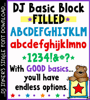 DJ Basic Block Filled Font Download