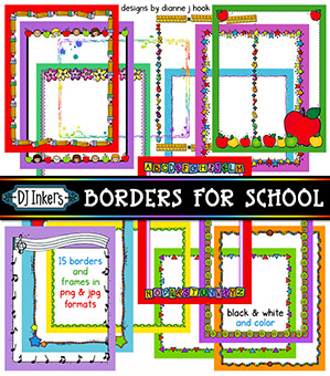 Borders For School Clip Art Download -NEW!