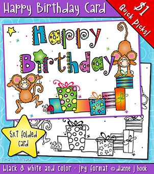 Happy Birthday Card Printable Download -NEW!