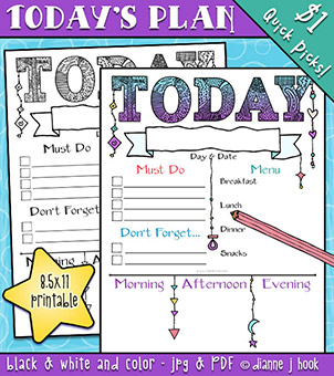 Plan for Today - Printable Download -NEW!