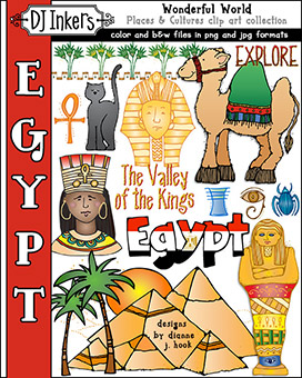 Egypt - Wonderful World Clip Art Download -NEW!