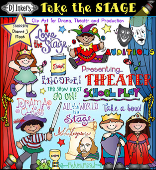 Take the Stage - Drama and Theater Clip Art Download