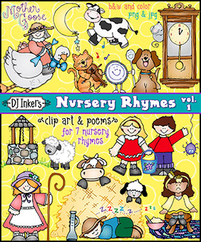 Nursery Rhymes Clip Art Download vol. 1
