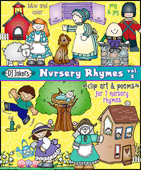 Nursery Rhymes Clip Art Download vol. 2
