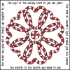 Celtic candy canes card made using DJ Inkers Christmas clip art and DJ Tinker font