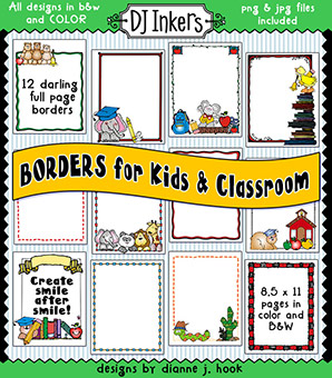Borders for Kids and Classroom Clip Art Download