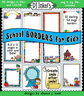 School Borders for Kids and Classroom Clip Art Download