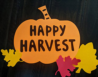 Happy Harvest Cut-Out - SVG Freebie