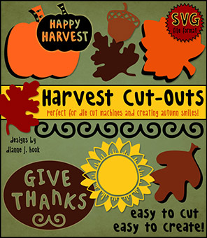 Harvest Cut-Outs - Autumn SVG Files
