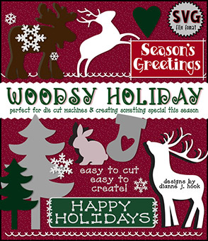 Woodsy Holiday Cut-Out Collection - SVG Files