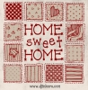 Home sweet home sampler made with DJ Crisscross font -DJ Inkers