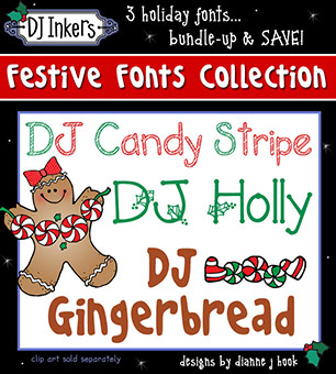 DJ Festive Fonts Collection Download