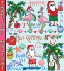 Cute beach clip art for a tropical holiday or Christmas in Hawaii by DJ Inkers