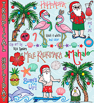 Tropical Holiday Clip Art Download