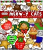 Meowy Christmas clip art is purrfect for any cat lover during the holiday season -DJ Inkers