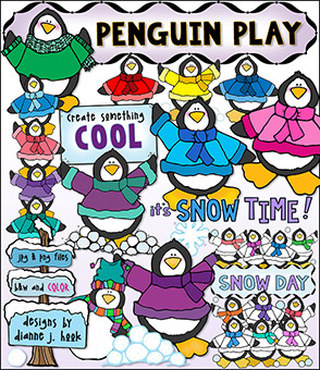 Penguin Play Clip Art Download