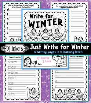 Just Write for Winter Printable Workbook Download