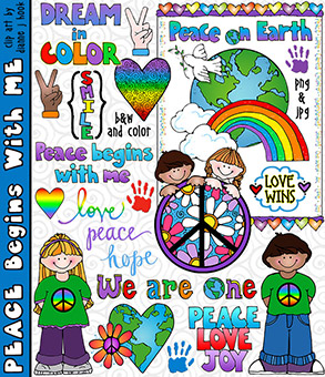 Peace Begins With Me Clip Art Download