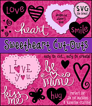 Sweetheart Cut-Out Collection - SVG Files