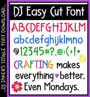 DJ Easy Cut Font Download