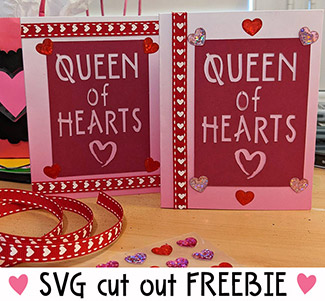 Queen of Hearts - SVG Cut-Out Freebie